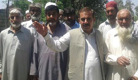 Land sliding damaged the road at village Gora Bazgaran, MZ Khan, News