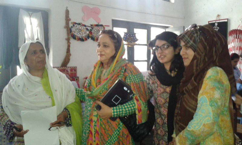 DEO Abbottabad Samina Altaf's visit to Govt Higher Secondary School Havelian