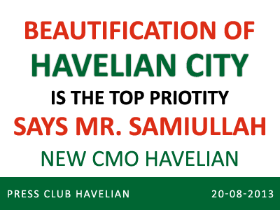 New CMO takes charge in Havelian