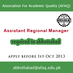 Assistant Regional Manager Job opportunity  in Association For Academic Quality (AFAQ)