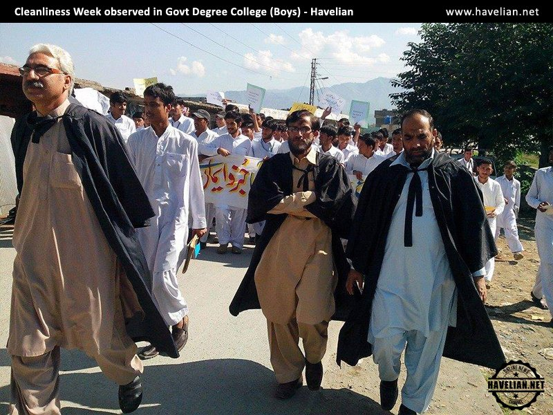 Cleanliness Week observed in Govt Degree College for boys Havelian