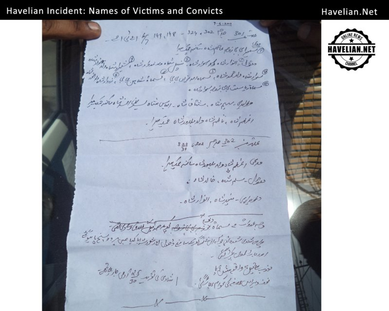 Havelian Incident report by Press Club Havelian