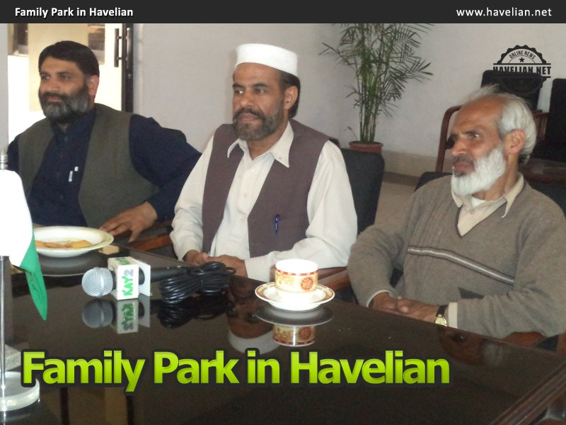 Press Club met CMO Sameeullah Khan for construction of a family Park in Havelian
