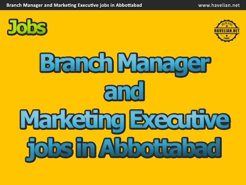 Branch Manager and Marketing Executive jobs in Abbottabad