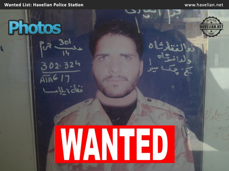 Pictures of Wanted Criminals in Havelian Circle