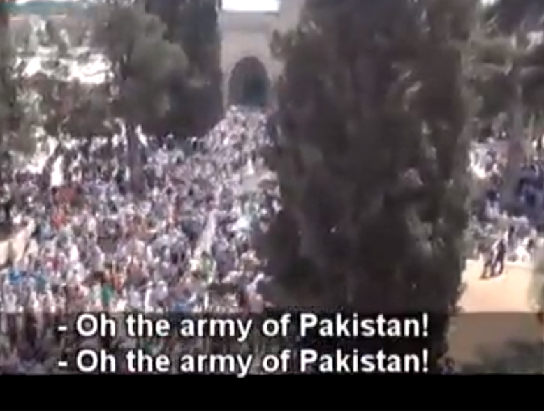 Thousands of Mulim Brothers In Israel calling For Pak Army To Liberate Jerusalem