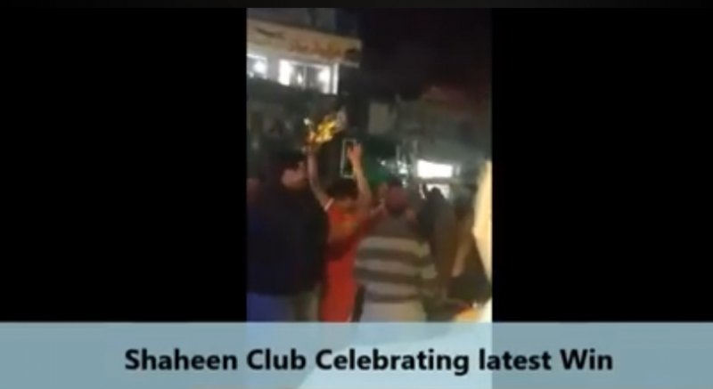 Shaheen Football Club celebrating Latest victory