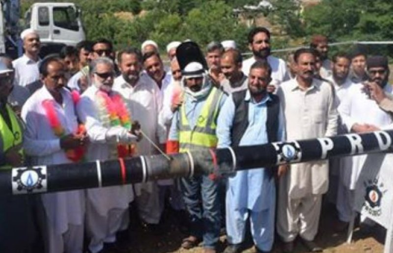 Deputy Speaker Murtaza Javed Abbasi Inaugurated Sui Gas Project in Mujahath Village.