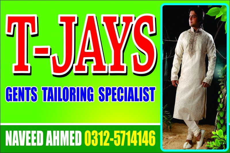 Tailoring shop in Havelian, T-Jays, Gents tailors, Toti Khan road