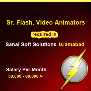 jobs, islambad, havelian, Sr. Flash, video animators