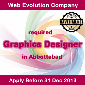 graphic designer, Jobs,  Web Evolution company, Pakistan, abbottabad