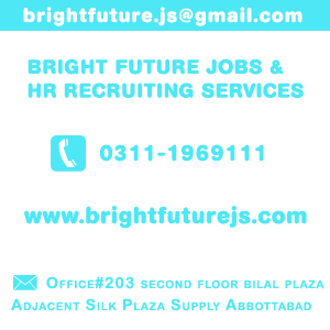 Bright Future Jobs  & HR Recruiting Services, jobs, abbottabad, jobs in abbottabad