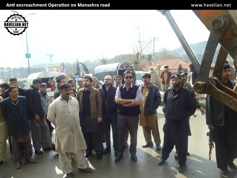 Anti encroachment drive continues on Mansehra road, Mansehra road,Anti encroachment,Mansehra,encroachment, operation
