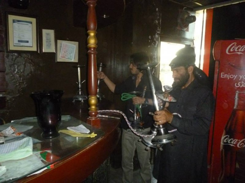 Action against Sheesha cafes in Abbottabad, sheesha cafes in abbottabad, ac usama waraich, sho shamrez, Sheesha equipment confiscated