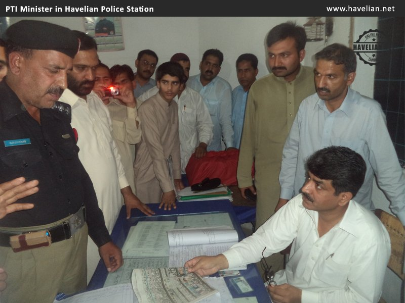 asp kashif zulfizar, asp havelian, article 216, havelian police, PTI Minister tried to rescue party workers in Havelian Police Station but SHO denied to release the arrested, sho hakim khan, mehtab nazir, malik zeeshan, pti havelian, fugitives, videos