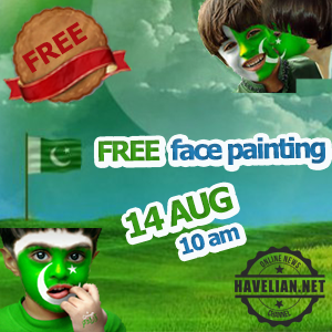 face painting, havelian, press club, imperial college havelian, face painting for kids