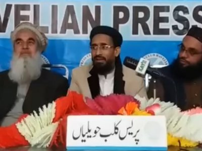 moulana, aurangzeb, farooqi, addressing, journalists, havelian, press, asad mustafa, hazara news, kpk news, advertisment