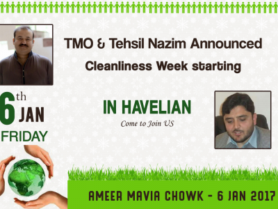 announced, cleanliness, starting, january, havelian, havelian.net, hazara news, kpk news, advertisment
