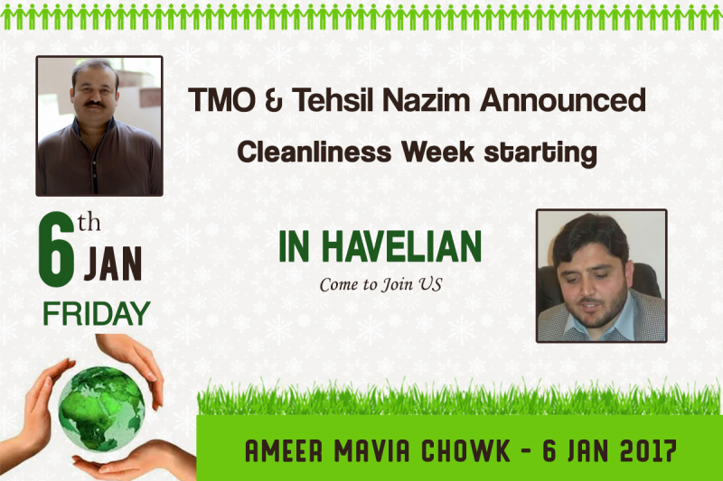 TMA announced Cleanliness Week starting from 6th January in Havelian